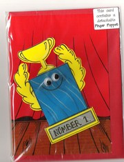 Unique FINGER PUPPET Birthday Card - Free postage